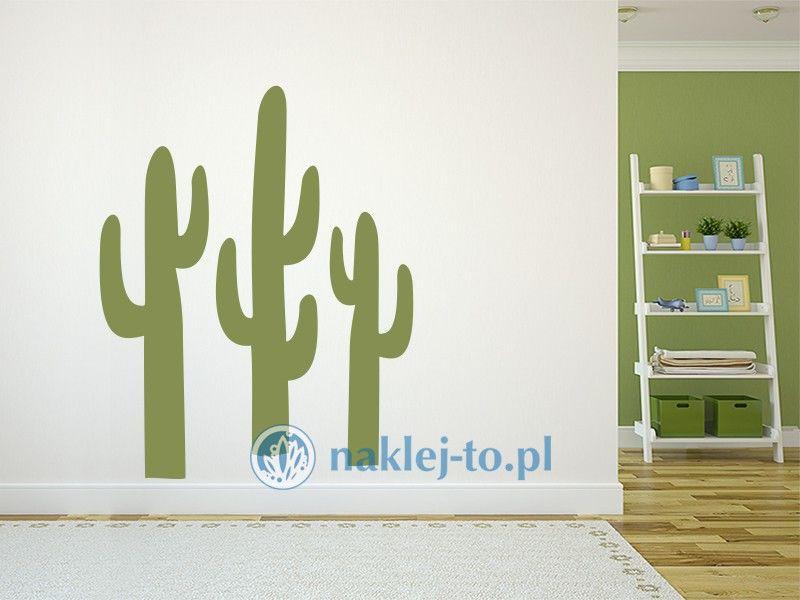 Kaktusy naklejka