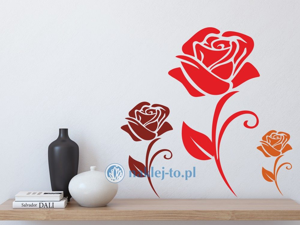naklejka róża Naklejka na ścianę