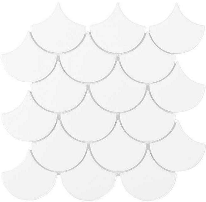 DUNIN mozaika ceramiczna MINI FISH SCALE WHITE 88
