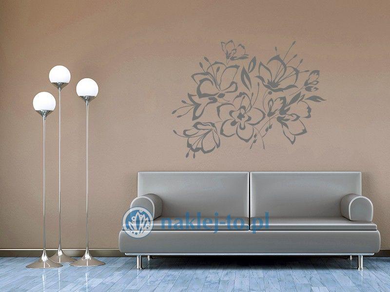 naklejka kwiatowy bukiet 2 Naklejka na ścianę