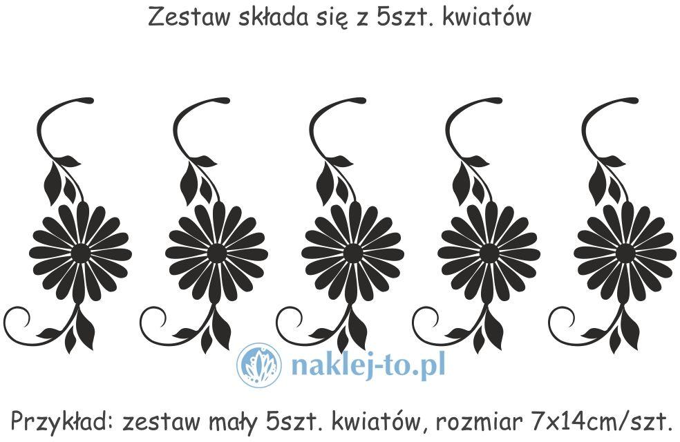 Zestaw kwiaty 2 naklejki