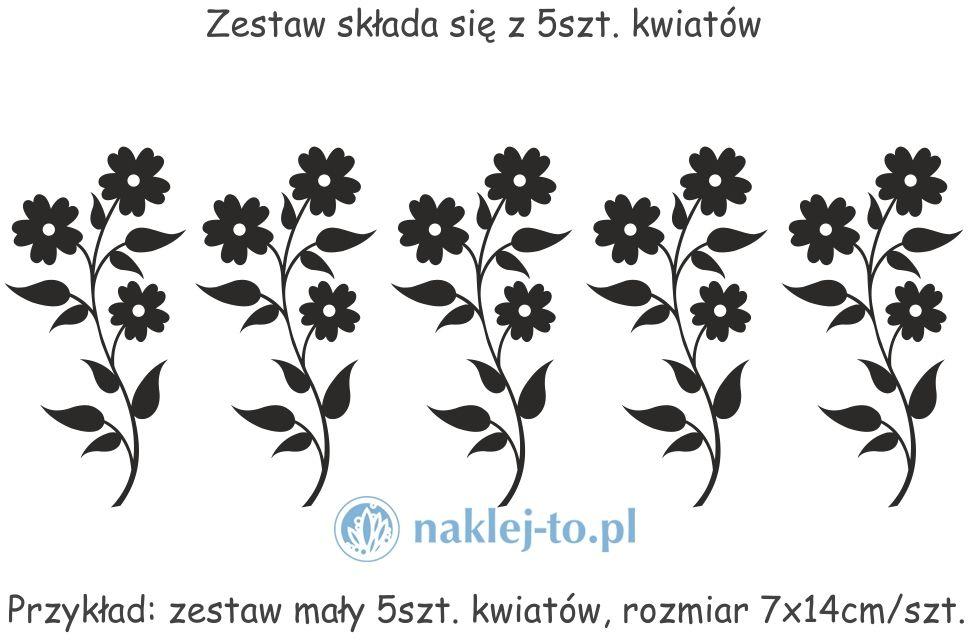 Zestaw kwiaty 3 naklejki