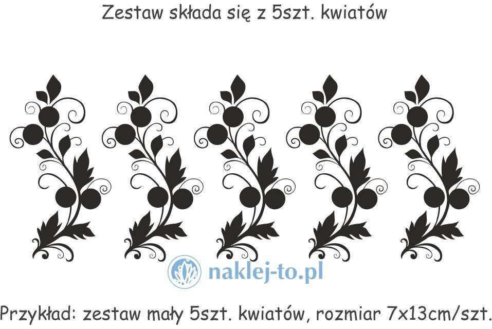 Zestaw kwiaty 4 naklejki
