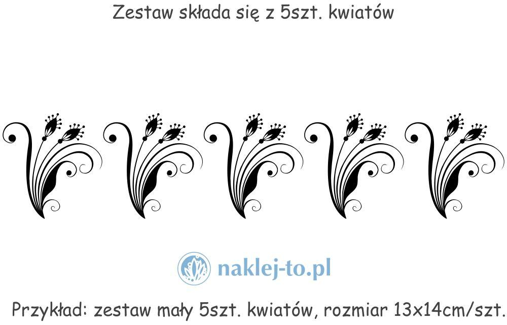 Zestaw kwiaty 6 naklejki