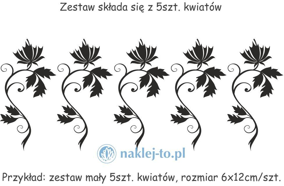 Zestaw kwiaty 7 naklejki