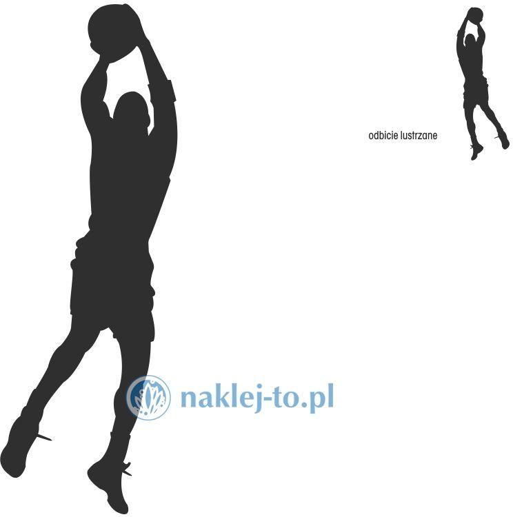 naklejka koszykarz 1 naklejka na ścianę