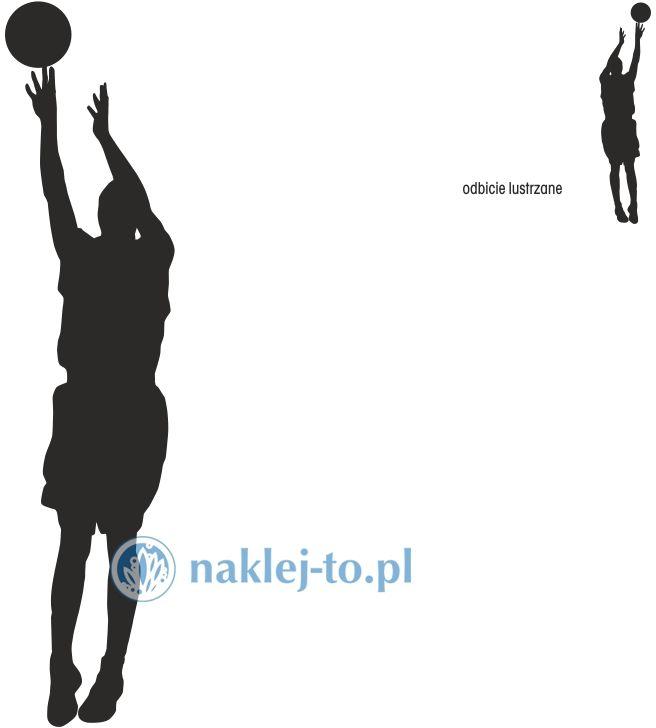 naklejka koszykarz 4 naklejka na ścianę