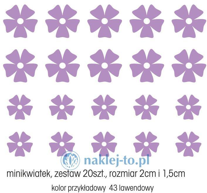 naklejka minikwiatek zestaw 20szt. naklejka na ścianę zestaw