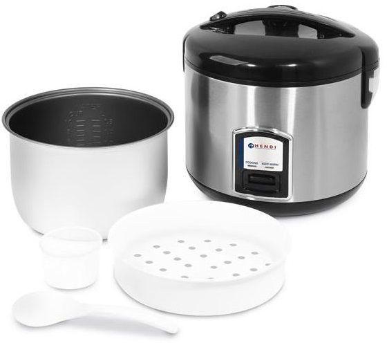 Hendi Urządzenie do gotowania ryżu z funkcją gotowania na parze 1,8L 700W - kod 240410