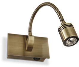 Kinkiet Dynamo AP1 121352 Ideal Lux nowoczesna oprawa ścienna w kolorze patyny