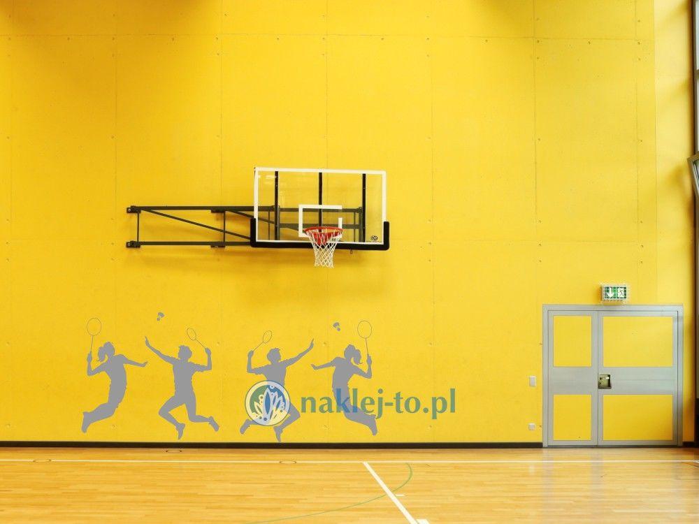 naklejka badminton naklejka na ścianę