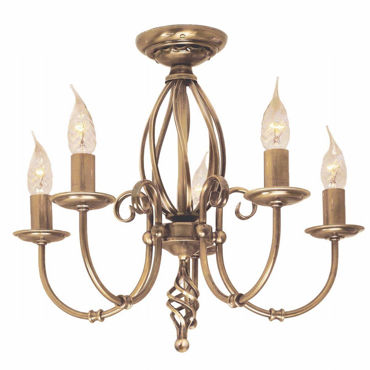 Artisan Aged Brass - Elstead Lighting - lampa wisząca klasyczna
