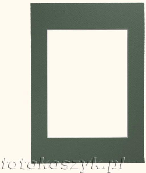 Zielone Passe-partout do ramki 15x21