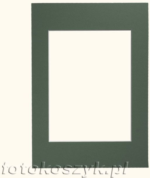 Zielone Passe-partout do ramki A4 (21x30cm)
