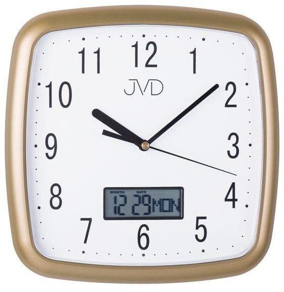 Zegar ścienny JVD DH615.3 26 x 26 cm Data Cichy mechanizm