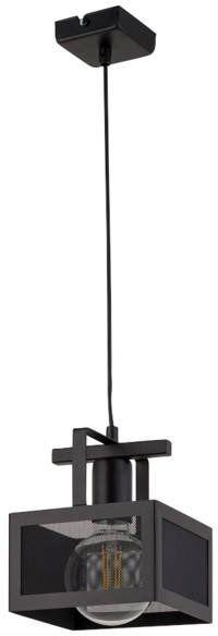 Lampa sufitowa wisząca siatka ALBERT 1 ZWIS czarny 32177