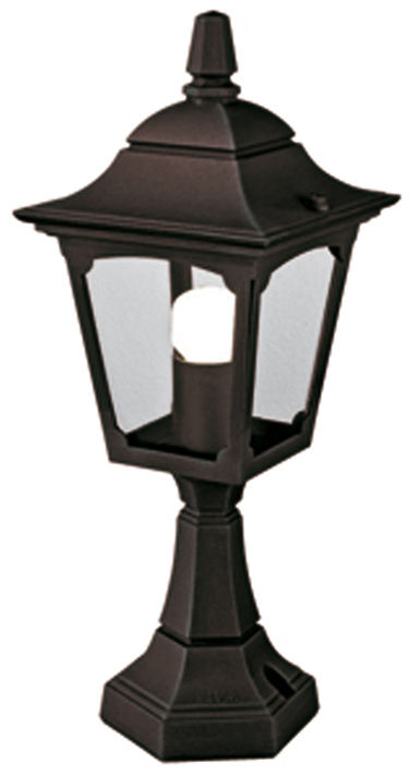 Lampa stojąca zewnętrzna Chapel Mini CPM4 BLK Elstead Lighting klasyczna oprawa w kolorze czarnym