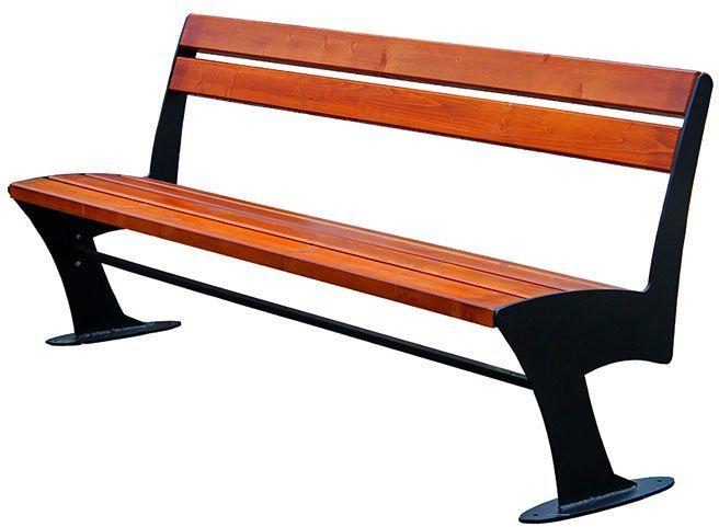Stalowa ławka parkowa Zoio 2X 180 cm - 84 kolory