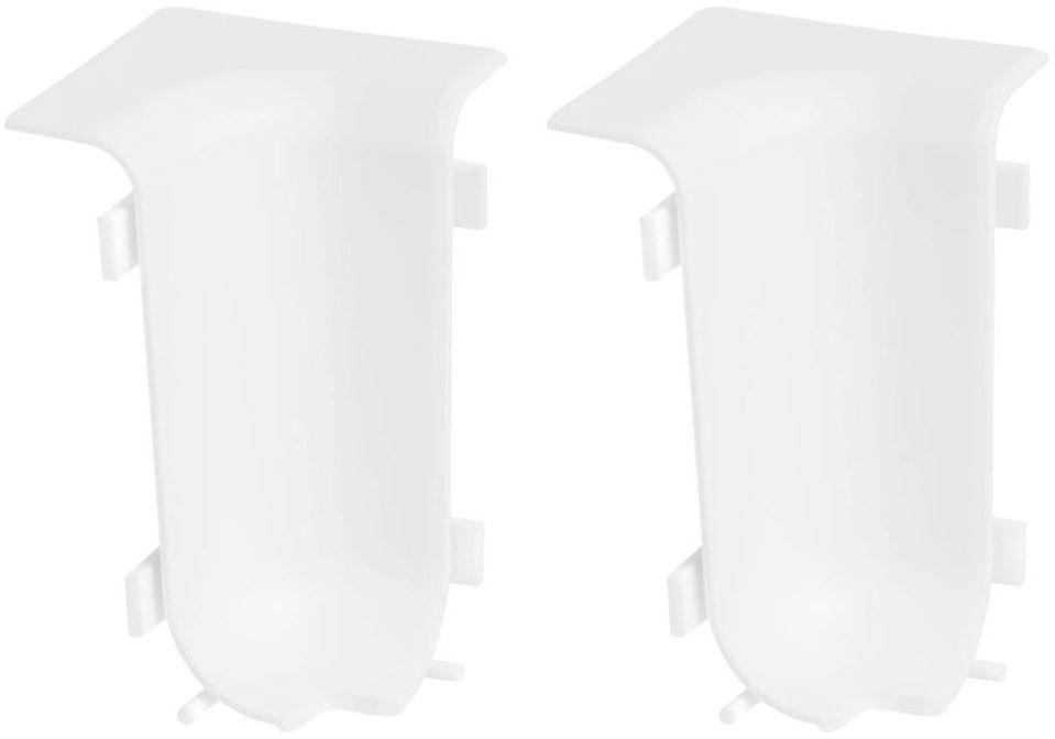 Narożnik wewnętrzny do listwy przypodłogowej Ergo KU50 Biały 2 szt.
