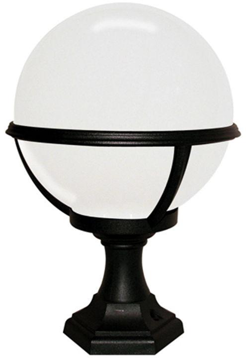 Lampa stojąca zewnętrzna Glenbeigh PED/POR Elstead Lighting czarno-biała oprawa w nowoczesnym stylu
