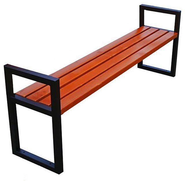 Nowoczesna drewniana ławka parkowa Dianema 180 cm - 84 kolory