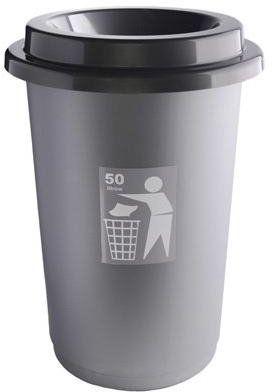Kosz na śmieci ECO BIN 50L NEUTRAL szary
