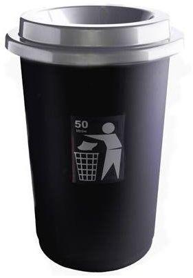 Kosz na śmieci ECO BIN 50L NEUTRAL czarny