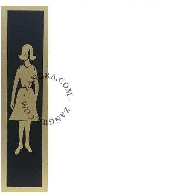 Retro Tabliczka WOMEN''s RESTROOM Złota