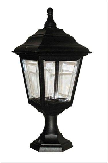 Lampa stojąca zewnętrzna Kerry PED/POR Elstead Lighting czarna oprawa w klasycznym stylu