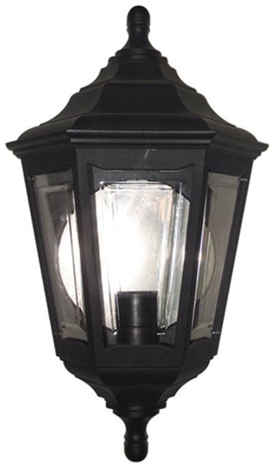 Kinkiet zewnętrzny Kinsale FLUSH Elstead Lighting czarna oprawa w dekoracyjnym stylu