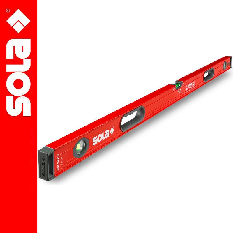 Poziomica aluminiowa 120cm BIG RED 3 SOLA
