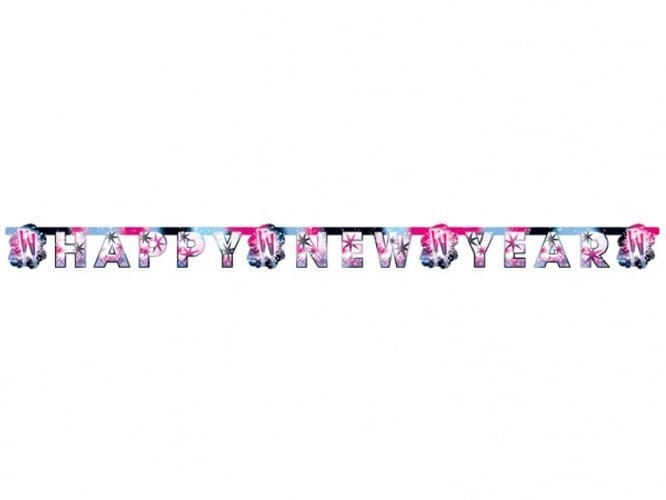 Baner Happy New Year - 180 cm - 1 szt.