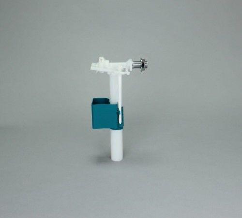 Zawór napełniający boczny 3/8'', Dłu. gwintu: 33 mm, Dłu. rury odpływowej: 215 mm, Gwint chromowany