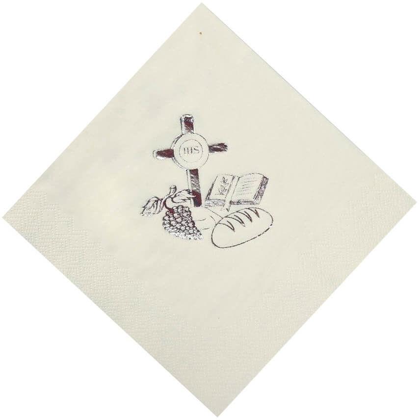 Serwetki komunijne Dziewczynka białe - 33 cm - 20 szt