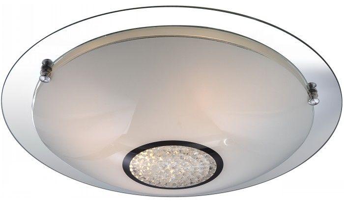 Globo plafon lampa sufitowa Edera 48339-3 chrom szkło kryształy K5 41,5cm