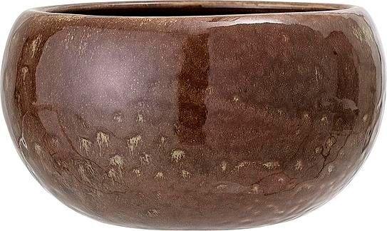 Osłonka na doniczkę bloomingville 15 cm ciemnobrązowa
