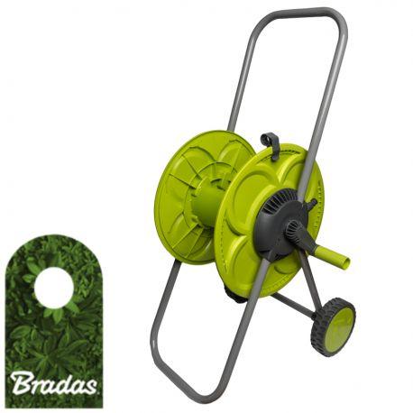 """Wózek na wąż ogrodowy 1/2"""" 50m LIME LINE CLOVER BRADAS 2242"""