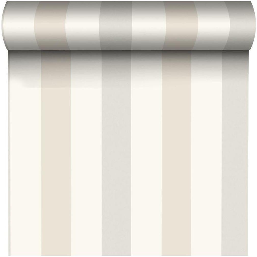 Tapeta w pasy Aurora Stripes beżowa winylowa na flizelinie