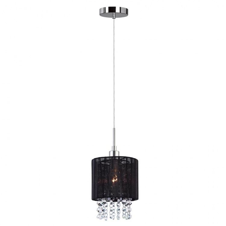 Lampa wisząca abażurowa czarna Astra MDM1953-1 BK Italux