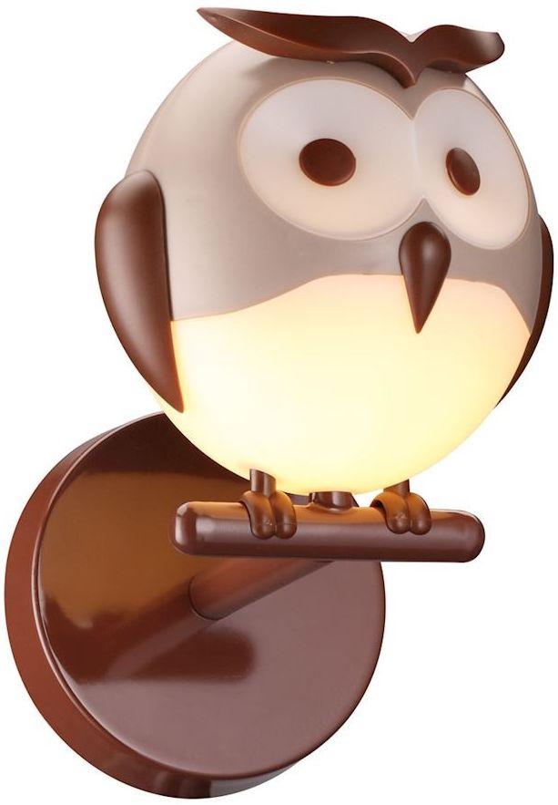 Kinkiet Owl 1 Brązowy ML245 - Milagro Do -17% rabatu w koszyku i darmowa dostawa od 299zł !