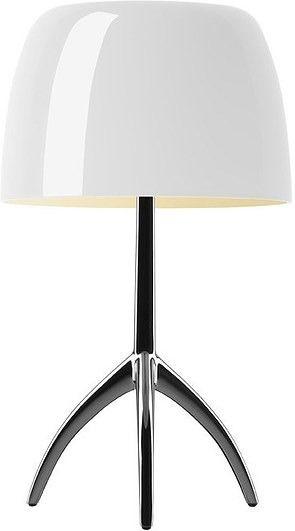 Lampa biała lumiere 05 mała aluminium polerowane