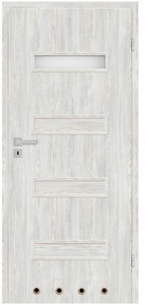 Skrzydło drzwiowe z tulejami wentylacyjnymi Cleo Astana 70 Prawe Nawadoor