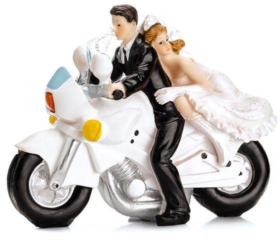Figurka na tort Młoda Para na motorze PF33