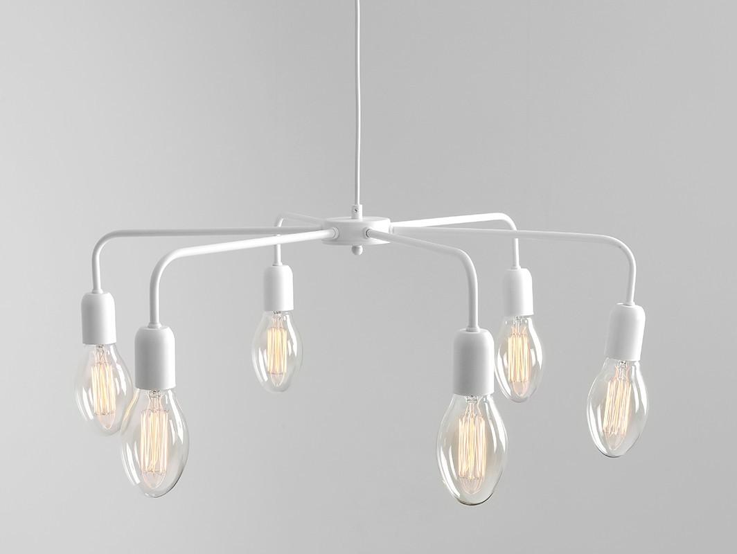 Lampa wisząca CROSER 6 - biały - Customform