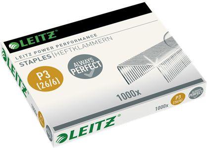 Zszywki Leitz Power Performance P3 26/6 mocne stalowe opakowanie 1000 zszywek
