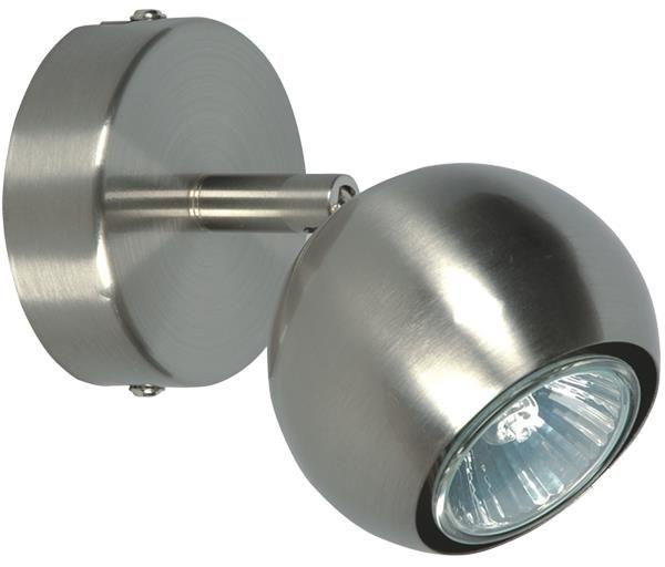 Lampex Bilbao 1 154/1 kinkiet lampa ścienna nowoczesna srebrny metal 1x50W GU10 13cm