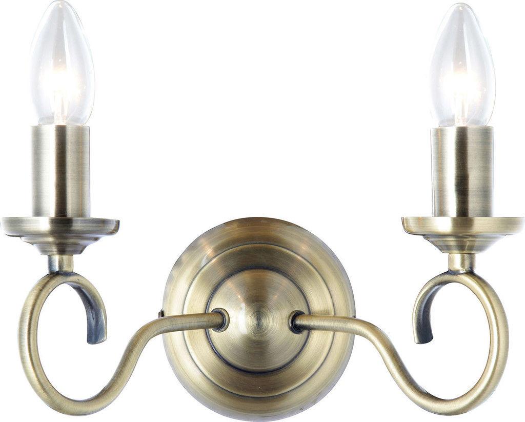 Globo kinkiet lampa ścienna Truncatus 69003-2W świecznikowy patyna
