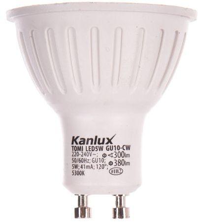 Żarówka LED 5W GU10 220-240V AC zimna barwa 380lm TOMI LED5W GU10-CW LAMPA LED 22701