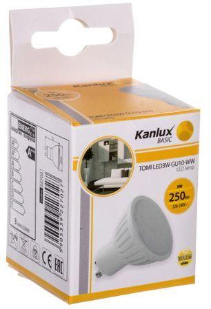 Żarówka LED 3W GU10 220-240V AC ciepła barwa 250lm TOMI LED3W GU10-WW LAMPA LED 22702