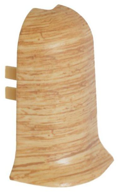 Narożnik wewnętrzny do listwy przypodłogowej Ergo 56 Dąb klasyczny 2 szt.